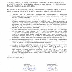 Rezolucja Walnego Zebrania Członków z dnia 22 lutego 2013 r.