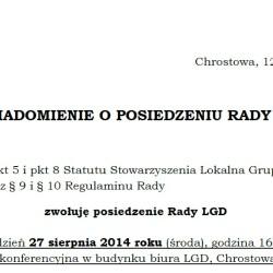 II Posiedzenie Rady LGD
