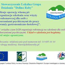 LGD organizuje rekrutację na szkolenia dla osób z zaburzeniami psychicznymi do pracy w branży gastronomiczno-hotelowej