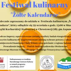 """Zaproszenie na Festiwal Kulinarny """"Żółte kalendarze"""""""